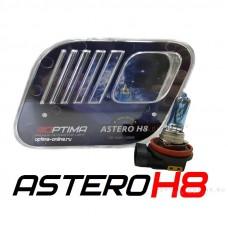 Галогенные лампы Optima Astero H8 +80% White 5000K
